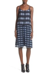 Whitney Eve 'Arroyo' Strappy Plaid Popover Dress Black