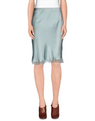 D.Exterior Skirts Knee Length Skirts Women Turquoise