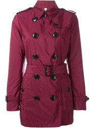 Burberry Brit Short Length Trench Coat Red