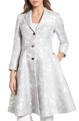 Ted Baker London Jacquard Fit And Flare Coat