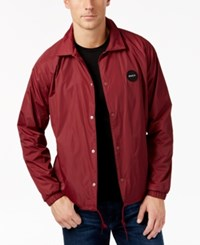 Rvca Men's Motors Coach Jacket Tawny