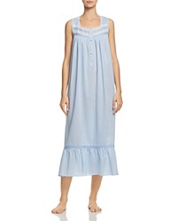 Eileen West Striped Ballet Gown Blue