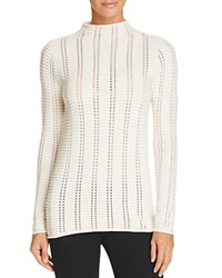 French Connection Mozart Ladder Perforated Sweater White