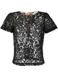 Semicouture Sheer Lace T Shirt 60