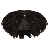 Phase Eight Collection 8 Natalia Feather Cape Black