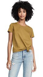 Madewell Knot Front Tee Spiced Olive