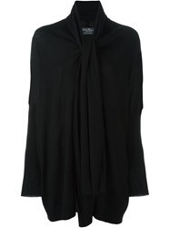 Salvatore Ferragamo Scarf Collar Cardigan Black