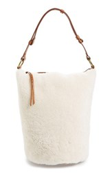 Madewell O Ring Genuine Shearling And Leather Bucket Bag