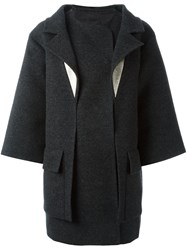 Chanel Vintage Boxy Fit Coat Grey