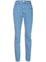 Thierry Mugler Panelled Tapered Leg Jeans 60