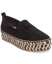 Steve Madden Steven By Women's Pikko Platform Espadrille Flats Women's Shoes Black
