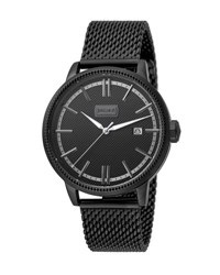 Just Cavalli 42Mm Men's Relaxed Patch Watch W Mesh Strap Black
