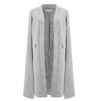 Lavish Alice Women's Felt Cape Coat Grey