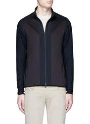 Theory 'Travus' Scuba Jersey Jacket Black
