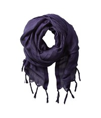 Love Quotes Linen Tassel Scarf Maritime Scarves Blue