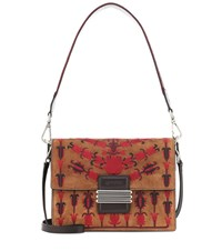 Etro Rainbow Suede Shoulder Bag Brown