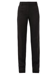 Valentino Tailored Wool Blend Trousers Black