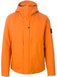 Stone Island Hooded Jacket Yellow And Orange