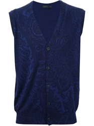 Etro Paisley Tank Top Blue