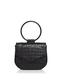 Nasty Gal Ring Leader Embossed Crossbody Jet Black
