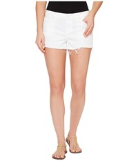 Hudson Kenzie Cut Off Five Pocket Shorts In White White Women's Shorts
