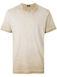 Diesel Black Gold Crew Neck Ombre T Shirt Nude And Neutrals