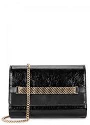 Lanvin Black Patent Leather Cross Body Bag