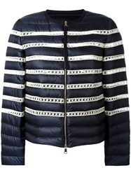 Moncler Stripe Padded Jacket Blue