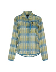 Blauer Shirts Light Green