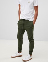 Lyle And Scott Skinny Logo Joggers In Green