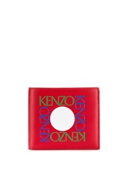 Kenzo Wallet With Embossed Quad Logo Red