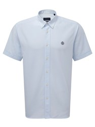 Henri Lloyd Men's Club Regular Short Sleeve Shirt Sky