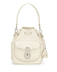 Ralph Lauren Ricky Small Leather Bucket Bag Bone Ivory