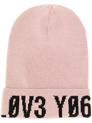 Red Valentino Logo Embroidered Hat Pink
