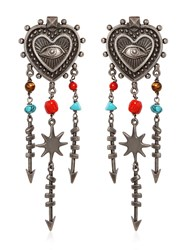 Valentino Santeria Heart Chandelier Earrings