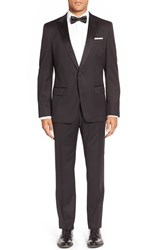 Men's Big And Tall Boss Trim Fit Wool Tuxedo Black