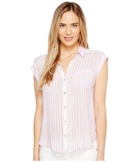Calvin Klein Jeans Whisper Weight Pop Over Blouse Electric Orchid Women's Blouse Purple