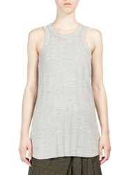 Sacai Melange Knit Tank Light Grey Black