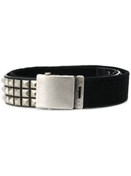 Gosha Rubchinskiy Pyramid Studded Belt Black