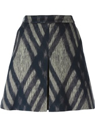 Odeeh Check Print Skirt Nude And Neutrals