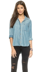 Bella Dahl Button Down Shirt Aged Denim