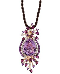Le Vian Multistone Cord Pendant In 14K Rose Gold