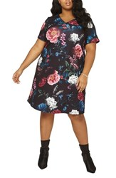 Dorothy Perkins Plus Size Women's Floral Print Shift Dress Multi