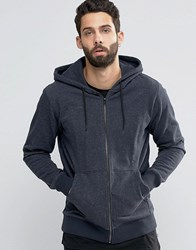 Only And Sons Zip Through Flecked Jersey Sweater Dark Grey Melange