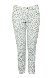 French Connection Leo Leopard Printed Jeans White