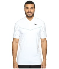 Nike Tiger Woods Velocity Max Blocked Polo White Wolf Grey Black Men's Short Sleeve Pullover Gray