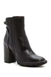 Summit By White Mountain Nollie Genuine Leather Block Heel Bootie Black