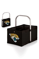 Picnic Time 'Urban Basket' Football Print Collapsible Canvas Tote