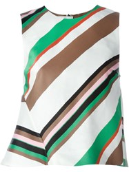 Msgm Striped Sleeveless Top Multicolour