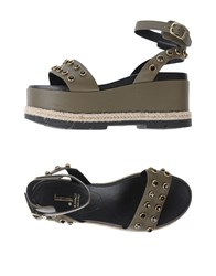 Jeannot Sandals Military Green